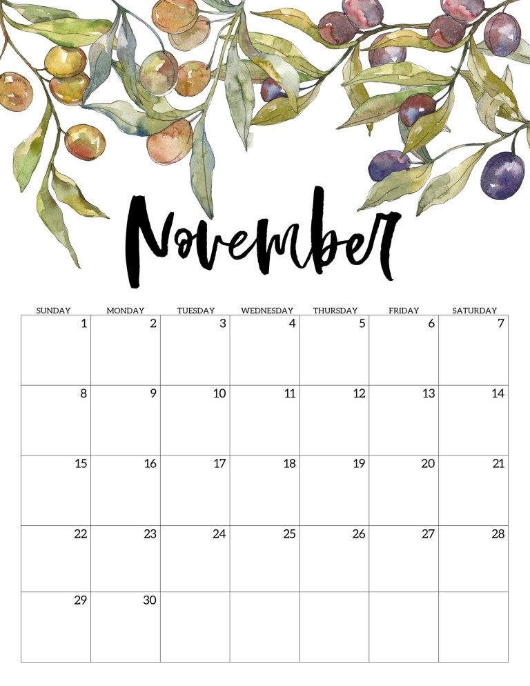 It is a graphic of Dramatic Printable November 2020 Calendars