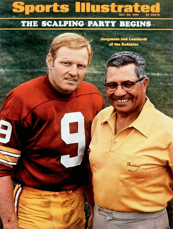 Image result for VINCE LOMBARDI WASHINGTON REDSKINS IMAGES SPORTS ILLUSTRATED COVER