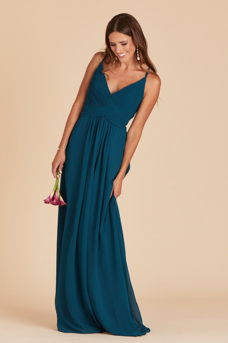 499e039c28a7b Mikey Dress - Peacock in 2019 | EMERALD GOWNS | Dresses, Bridesmaid ...