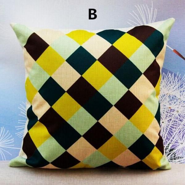 Geometric pillow modern abstract design Plaid cushions for couch
