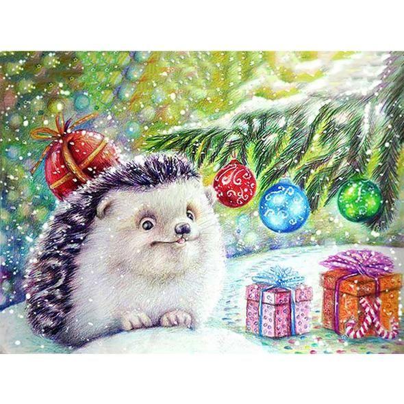 DIY Painting By Numbers -Cute  Hedgehog(16