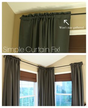 For Living Room Curtains That Won T Stay Open Or Put Double Sided Tape On The Rod Simple Curtains Curtains Diy Curtains