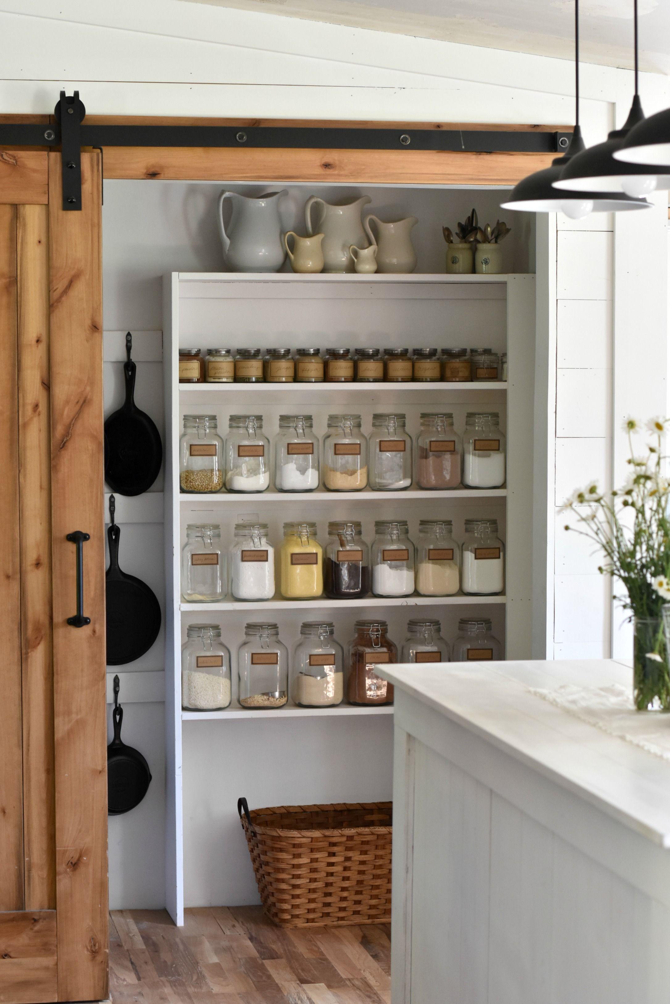 Walk In Kitchen Pantry Farmhouse style kitchen