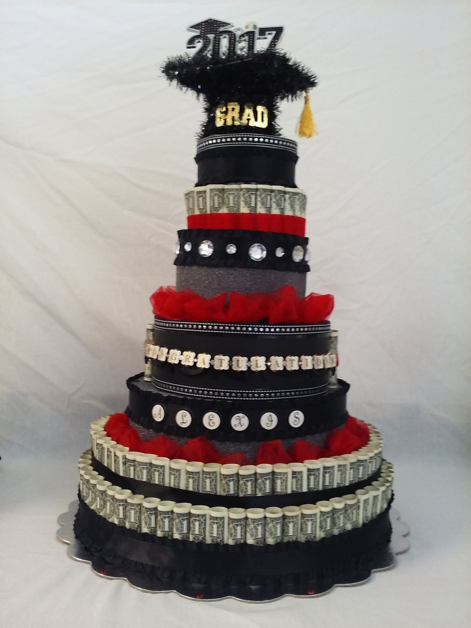 Graduation money cake I made for my Goddaughter ALEXIS ...