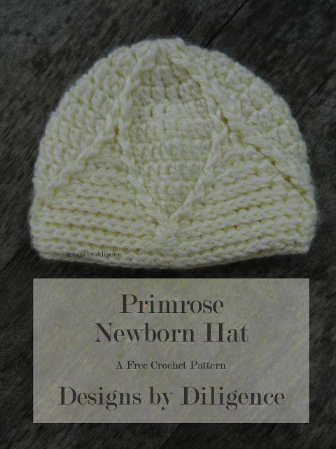 The Primrose Newborn Hat Is A Free Crochet Pattern That Looks Like A