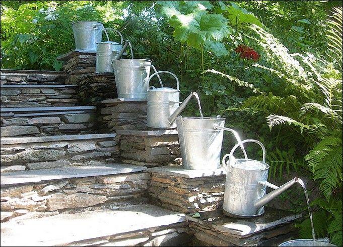 Berömda hemmagjord trädgård fontän idéer foto - 3 | trädgård | Fontäner EW-62