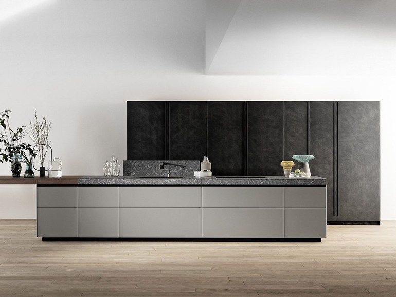 k che mit k cheninsel ohne griffe genius loci k che mit k cheninsel valcucine k che. Black Bedroom Furniture Sets. Home Design Ideas