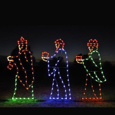 3 Kings In Lights Nativity C7 Led
