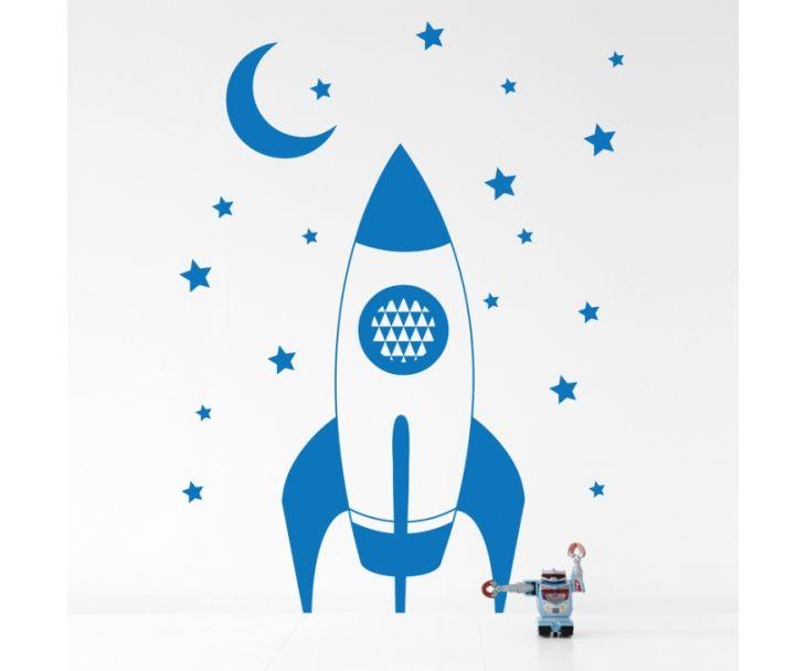 Rocket Kids Wall Sticker - Blue   roveconcepts.com
