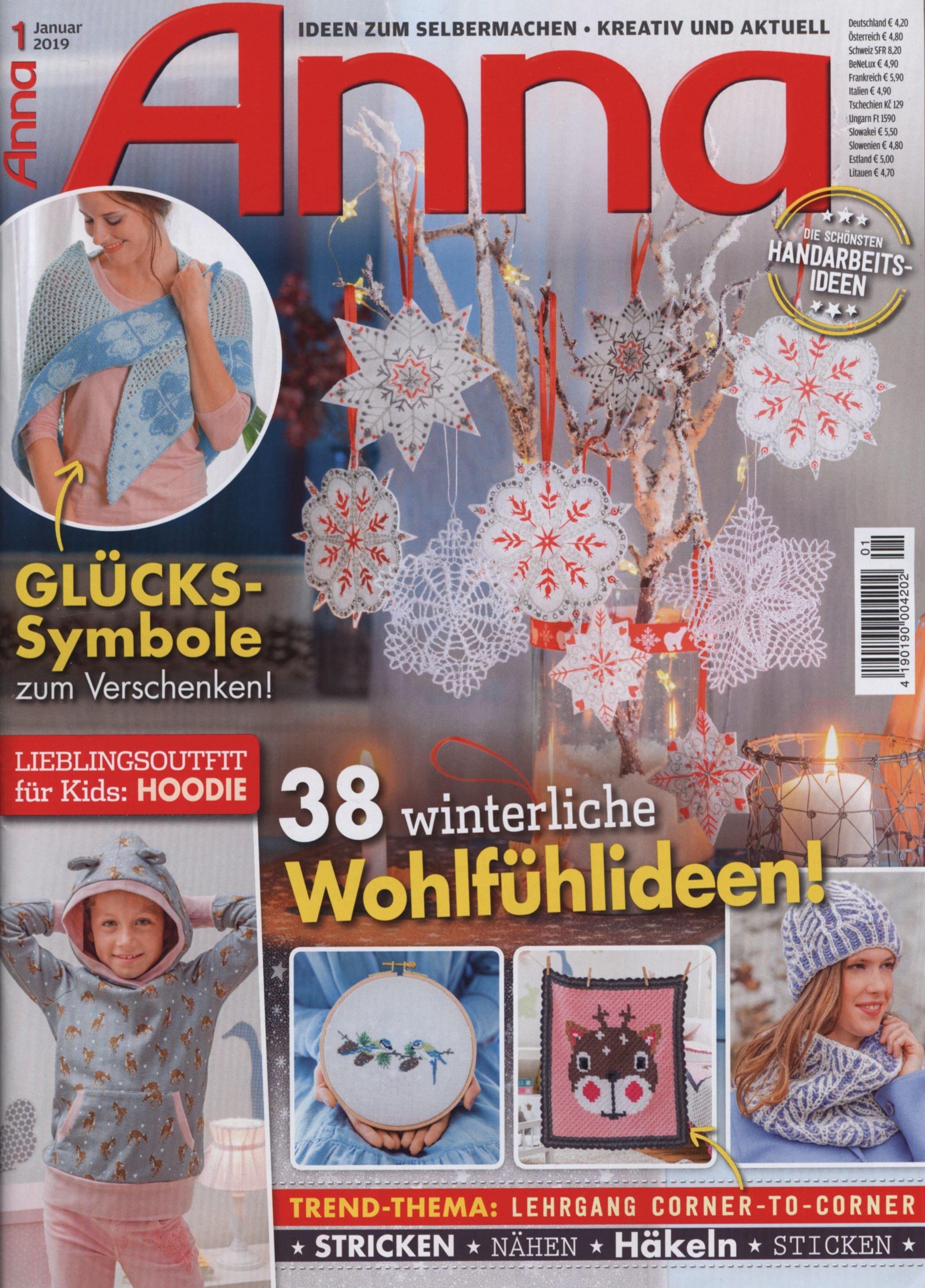 журнал Anna Januar 2019 вязание 6 вязание вязание крючком