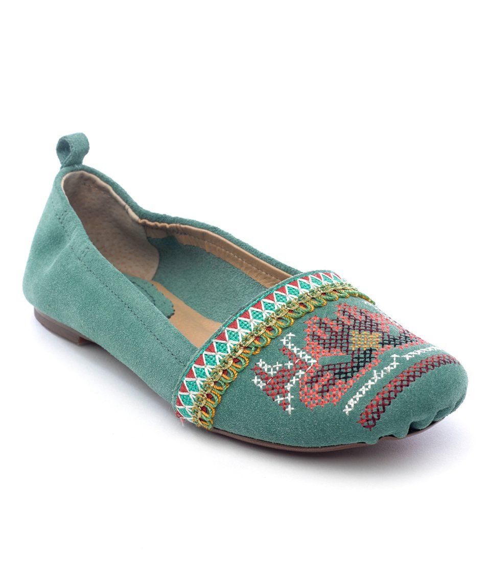 02d74e8fd681b Take a look at this Green   Blue Basia Suede Ballet Flat today ...