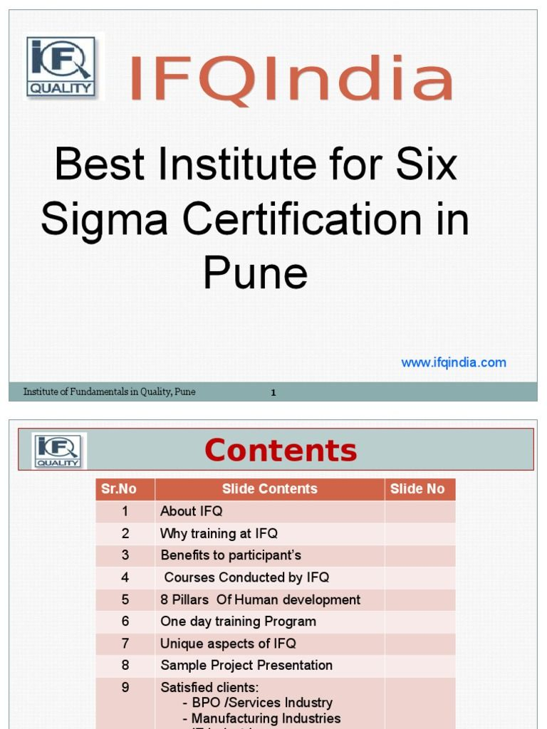 Sixsigmablackbeltcourse Six Sigma Is A Much Needed Process In An