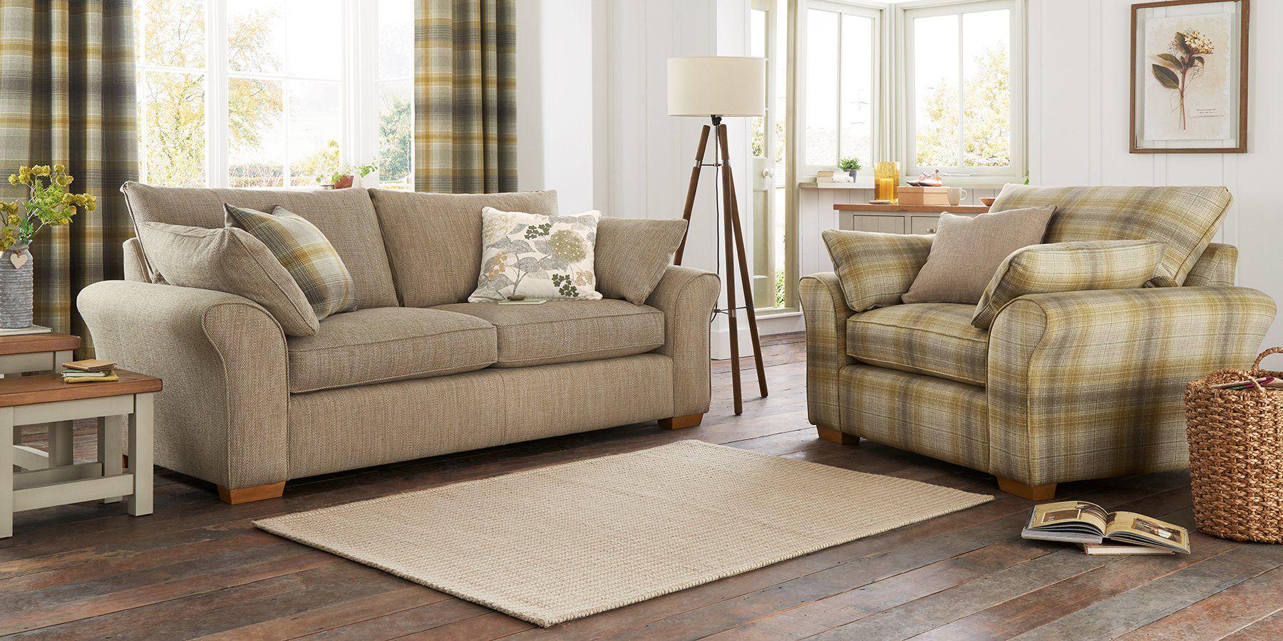 Buy Ashford Large Sofa (3 Seats) Soft Brushed Herringbone Stone Low Turned    Light From The Next UK Online Shop | Home   Lounge | Pinterest | Large ...
