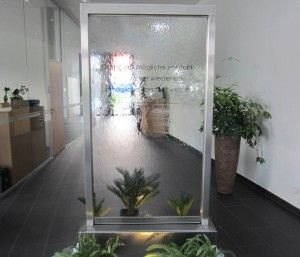 Wasserwand edelstahl glas 220 x 125cm wasserw nde in 2019 w nde wasser und wasserwand - Wasserwand wohnzimmer ...