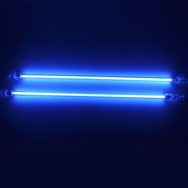 2pcs 6 blue ccfl car auto interior exterior neon lights light tube pc bright neon lighting. Black Bedroom Furniture Sets. Home Design Ideas