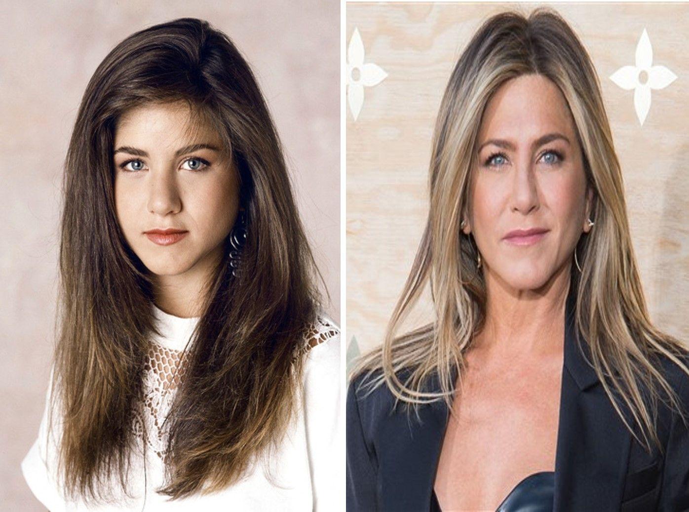 Jennifer Aniston Antes Y Después De Ser Una Actriz Muy Famosa Y Cotizada Famosos Aniston Jennifer Aniston