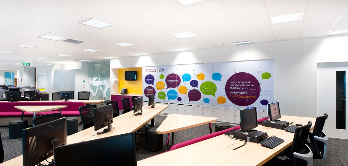 Office branding in vinyl is a great way to bring colour ...