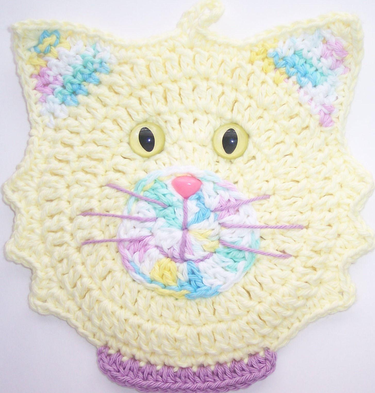 Crocheted Potholder Cat | angiecats | Pinterest | Manualidades ...