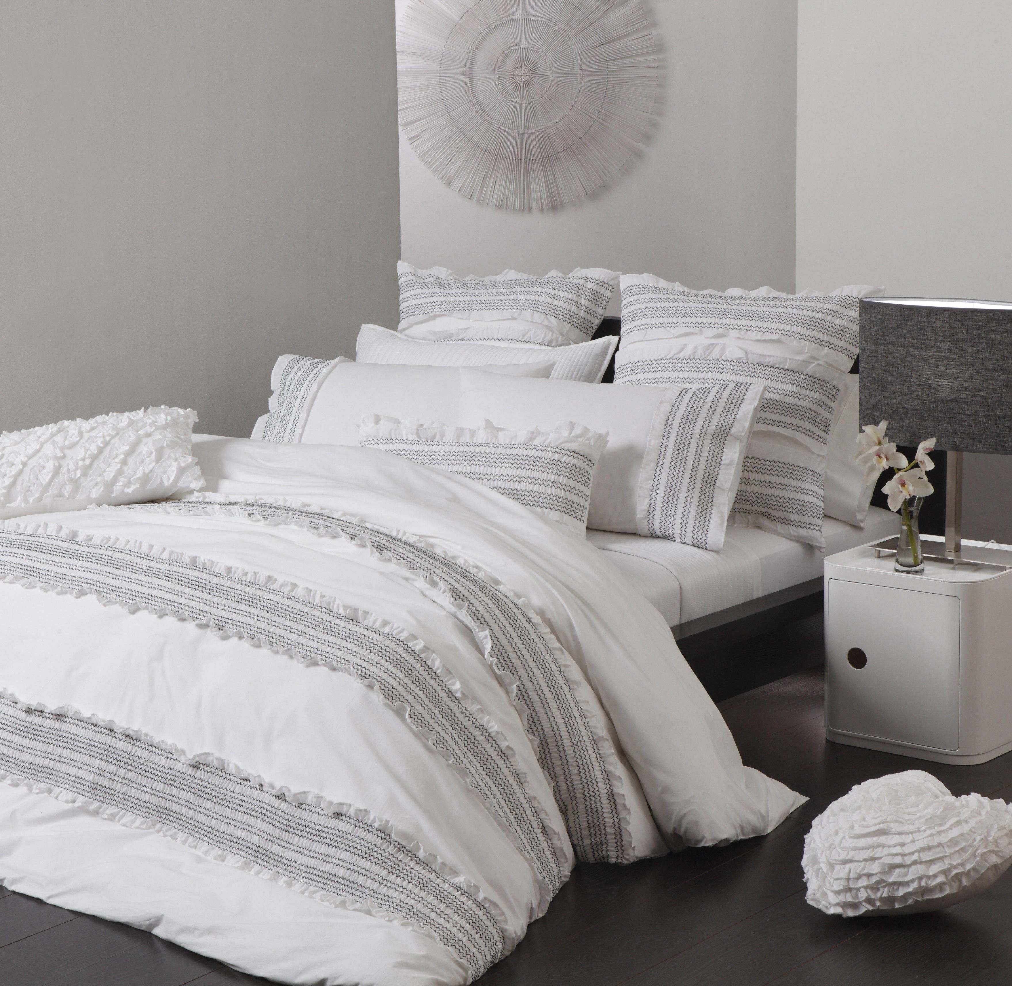 Mia White Quilt Cover Set by Platinum Collection - Quilt & Doona ... : king size white quilt - Adamdwight.com