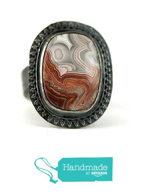 Crazy Lace Agate Ring from All Wired Up Jewelry Designs http://www ...