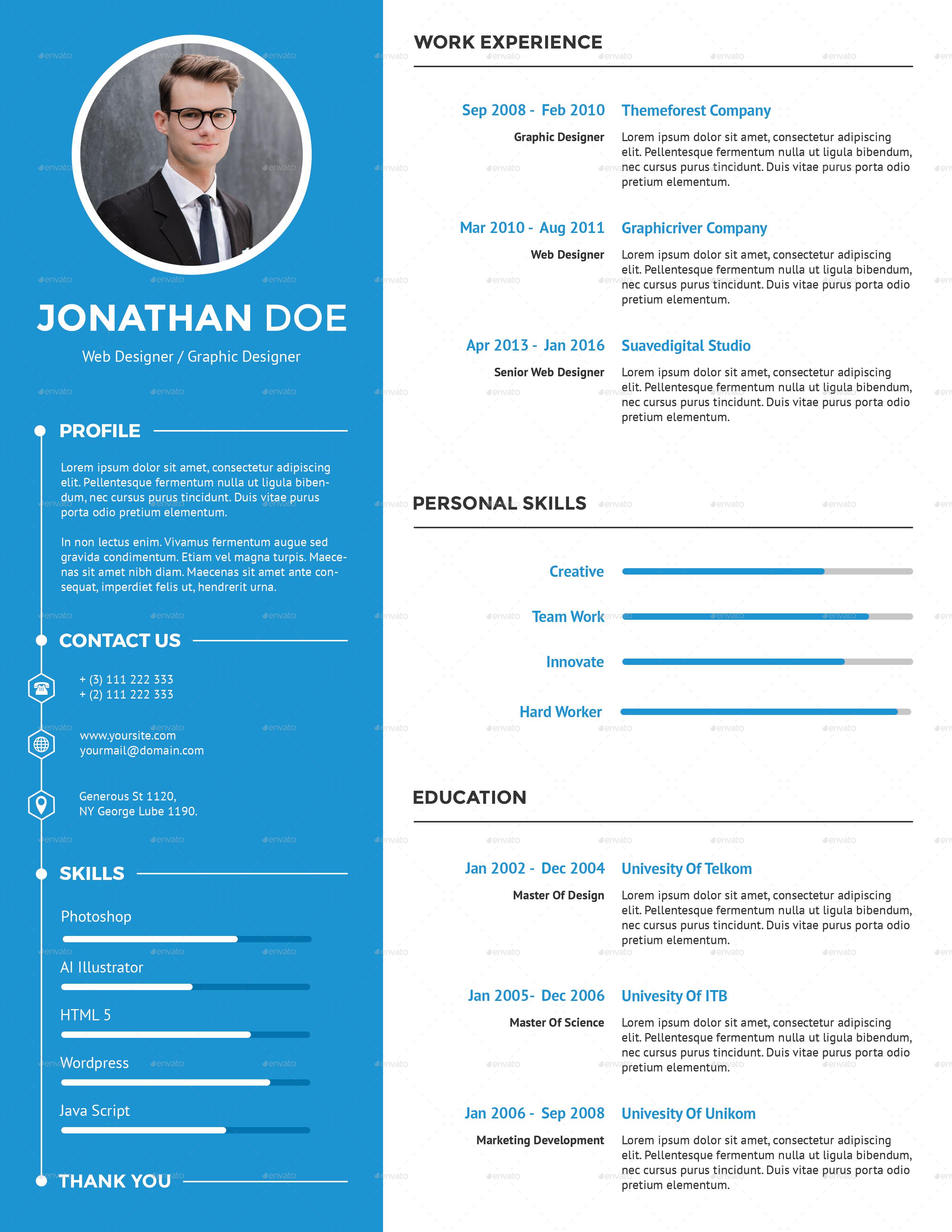 Clean Creative Resume Creative Resume Free Resume Template Word Clean Resume Template