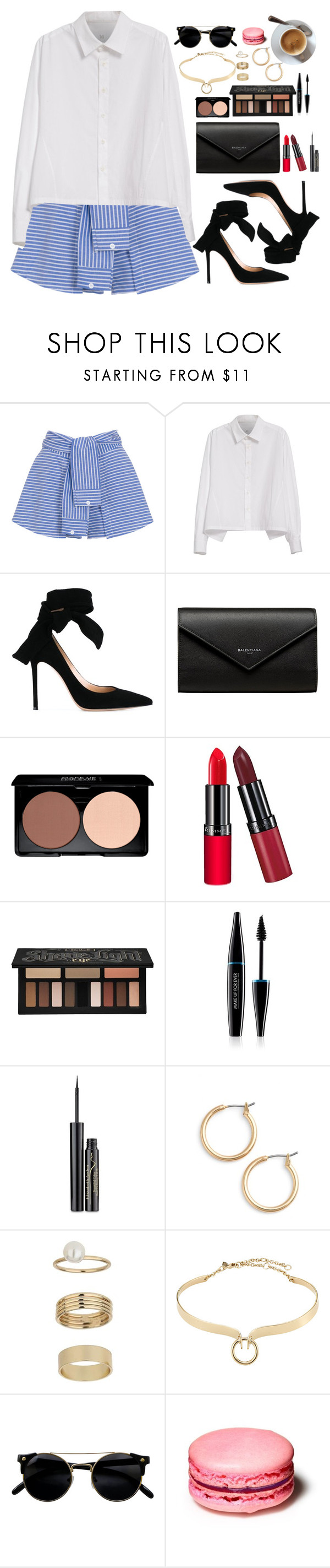 """""""Sin título #583"""" by antoalvear ❤ liked on Polyvore featuring WithChic, Y's by Yohji Yamamoto, Gianvito Rossi, Balenciaga, Rimmel, Kat Von D, MAKE UP FOR EVER, Elizabeth Arden, Nordstrom and Miss Selfridge"""