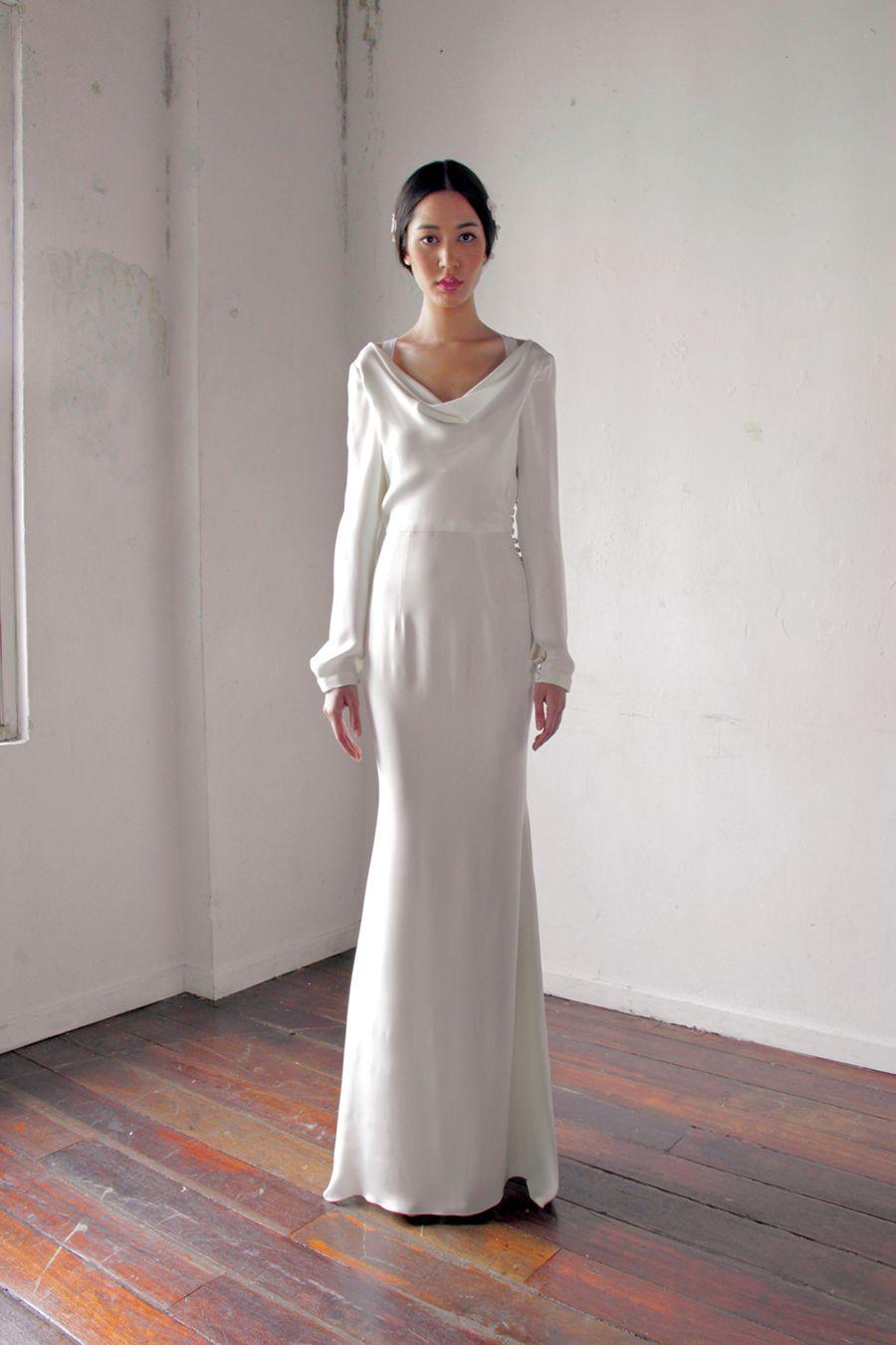 Five Questions With Designer Alia Bastamam Winter Wedding Dress Cowl Neck Wedding Dress Malay Wedding Dress