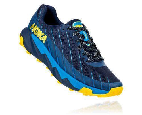 Photo of HOKA Men's Torrent Trail Running Shoes in Moonlit Ocean/Dresden Blue, Size 9.5
