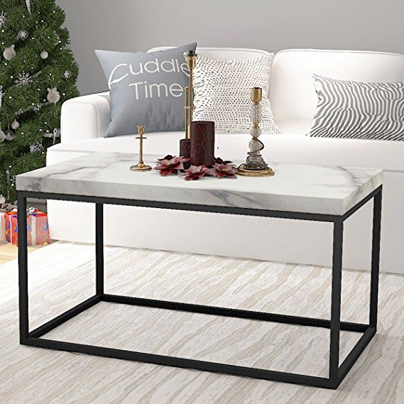 roomfitters faux marble top coffee table living room