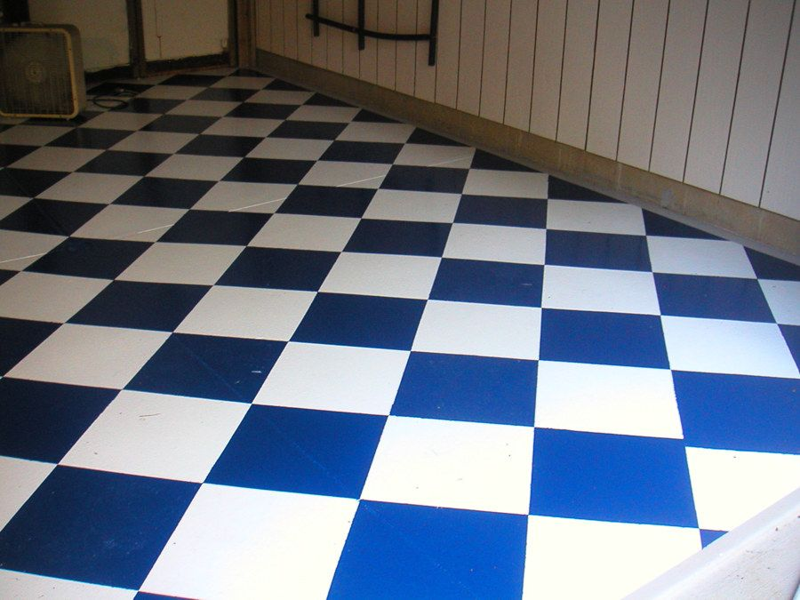 Blue And White Check Vinyl Flooring Google Search After Dark