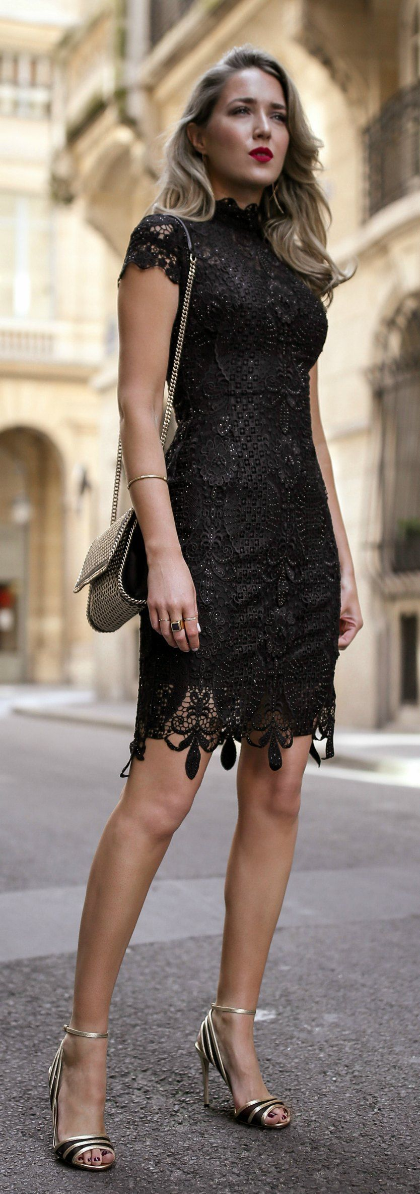 30 Dresses In 30 Days Day 11 What To Wear To A Cocktail Attire Wedding Black Lace Short Sleeve Mini Dres Lace Dress Black Short Sleeve Mini Dress Fashion [ 2367 x 834 Pixel ]