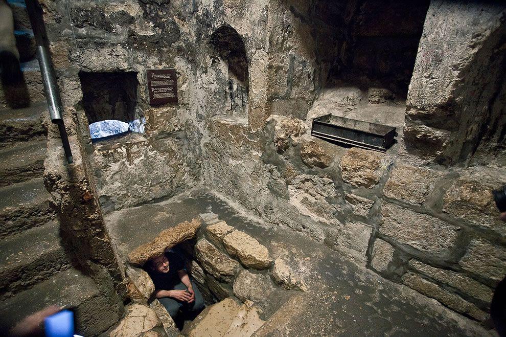 The Tomb of Lazarus at Bethany where Jesus raised Lazarus