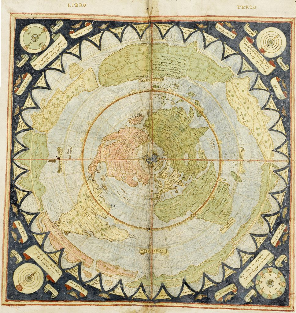 Flat Earth old map by Monte Urbano