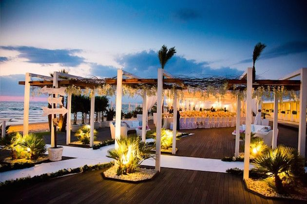 Incredible Sunset Beach Club Wedding In Italy