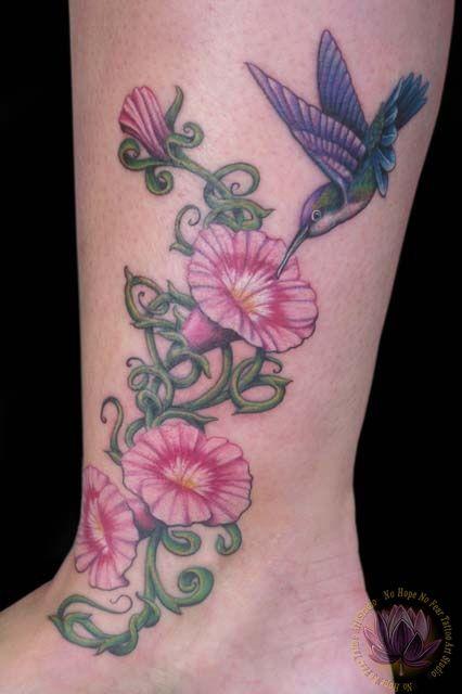 morning glory flower tattoos hummingbird morning glory tattoo pictures tattoos pinterest. Black Bedroom Furniture Sets. Home Design Ideas