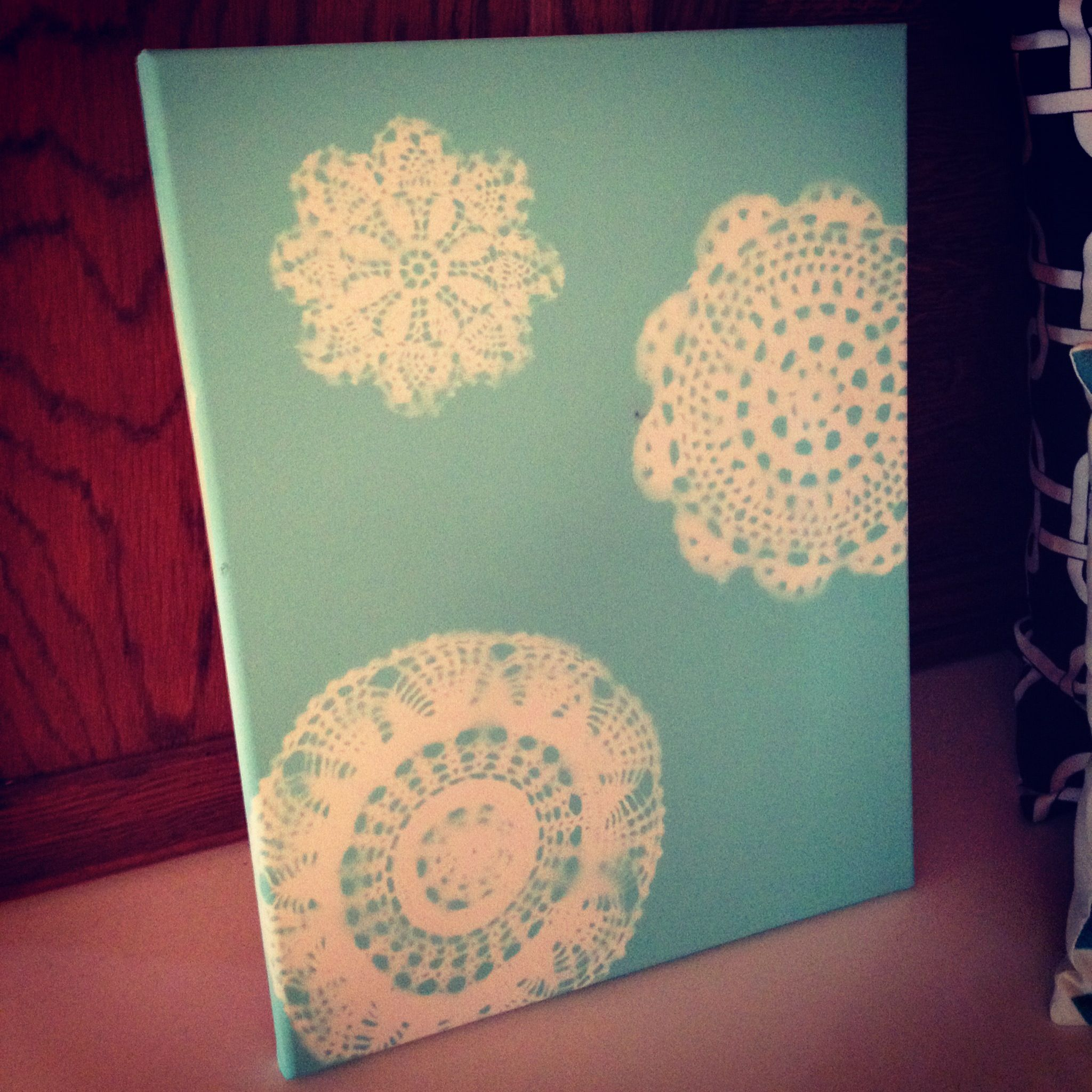 Doily Canvas Board