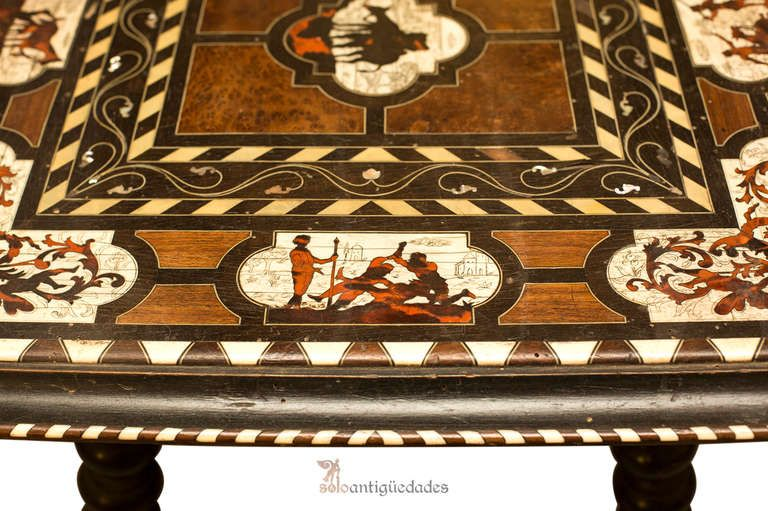 $1,000,000.00 Spanish Table with Scenes of Don Quixote | From a unique collection of antique and modern tables at https://www.1stdibs.com/furniture/tables/tables/