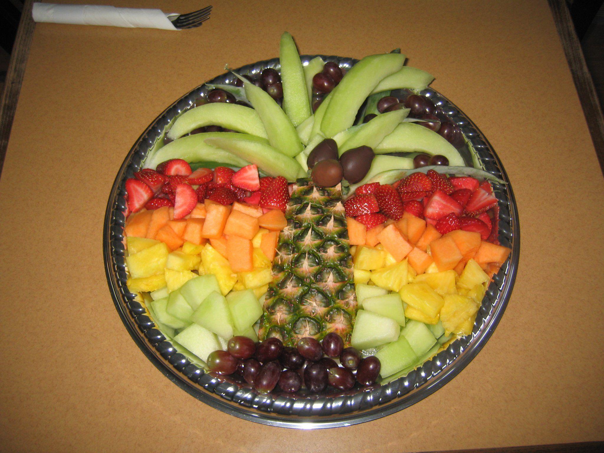 Fruit Tray Birthday Cake