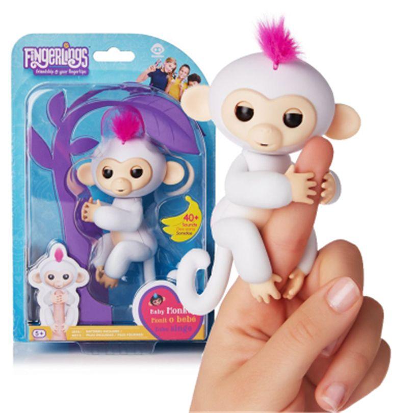 Nette Lustige Fingerling Interaktive Baby Affe Smart Bunte Finger ...