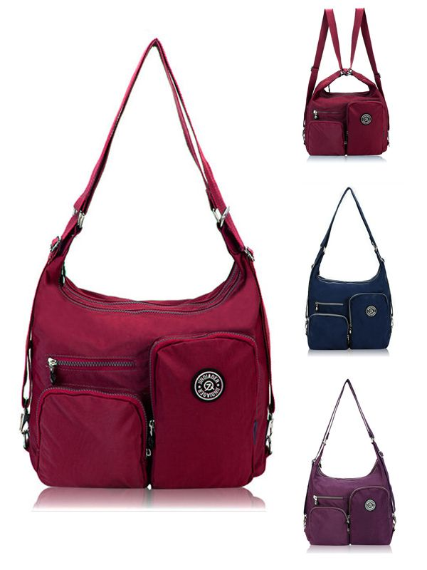 f5ec522c3576 $23.32 Women Nylon Waterproof Multifunctional Handbags Crossbody Bag ...
