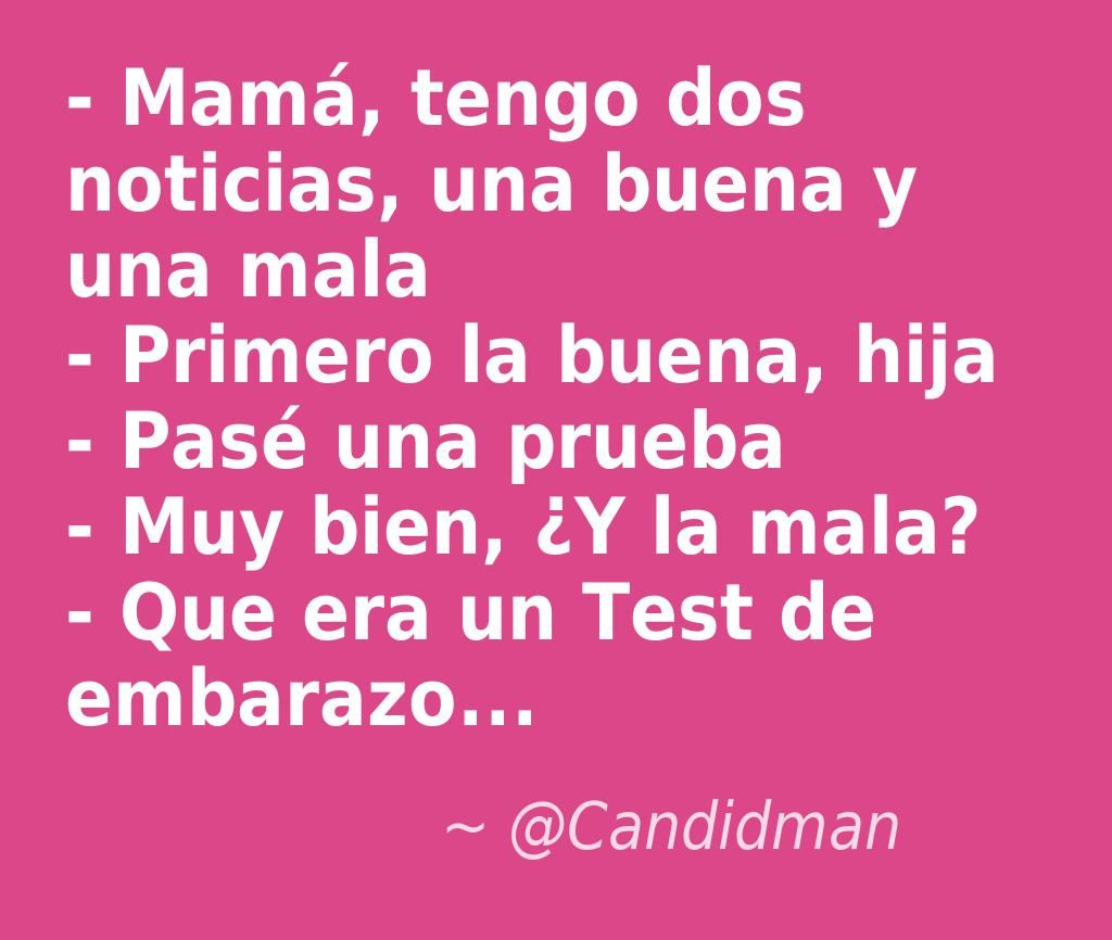 #Humor #Chiste - Mamá, tengo dos noticias, una buena y una
