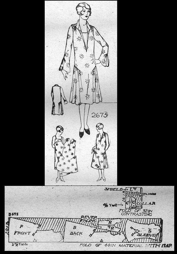 1926 Day Dress http://copa.apps.uri.edu/sample_garment.php?patID ...