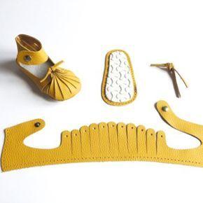 KARO-yellow-first baby shoe