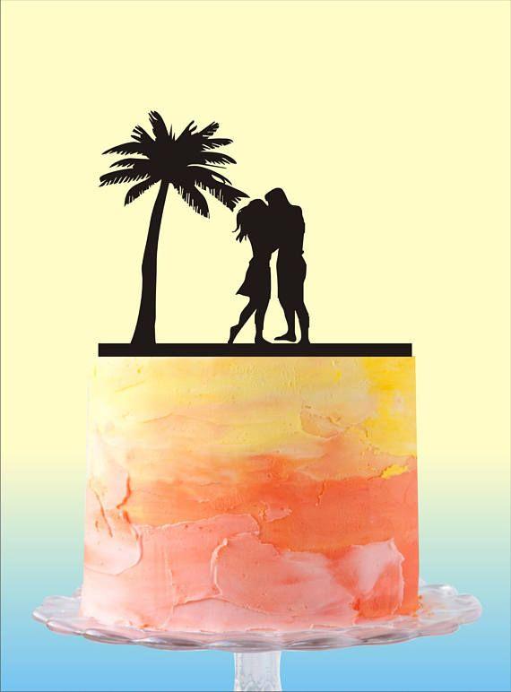 Beach Cake Topper, Beach Wedding Cake Topper, Destination Wedding ...