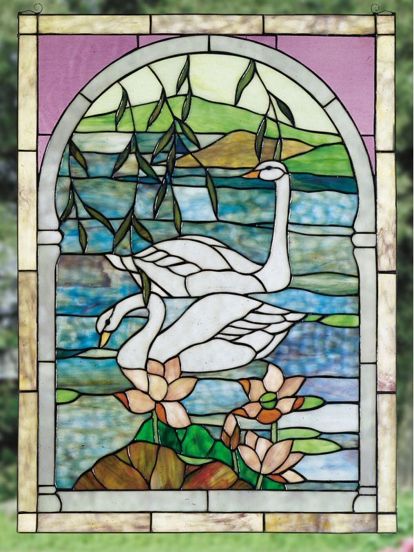 Meyda Tiffany 23868 Stained Gl Window From The Water Flowers Collecti Treatments