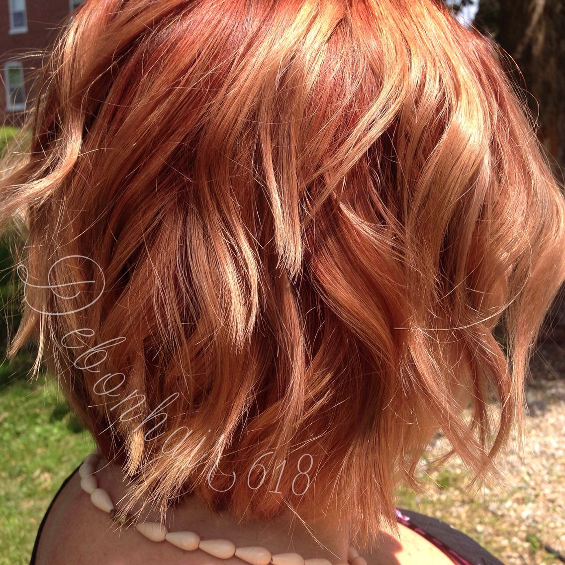 Shadow Root Copper Red And Blonde Balayage Kenra Shades Eq