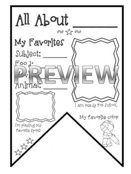 Welcome Back to School! This template can be used in a