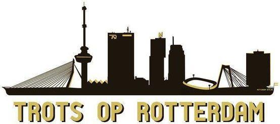 Rotterdam Skyline Rotterdam Rotterdam Holland En Nederland