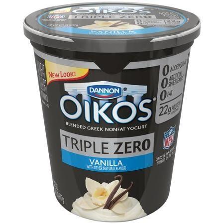 Dannon Oikos Triple Zero Nonfat Greek Yogurt (or any 0% ...