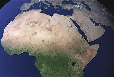 Map Of Africa From Space.Miracles Of Islam Allah S Name Clearly Visible Over Africa The